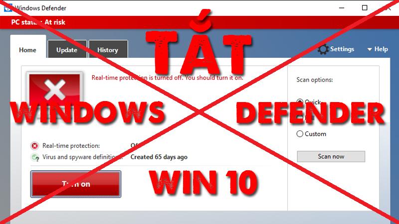 Cách tắt phần mềm diệt virus win 10 đơn giản nhất mà ai cũng có thế làm